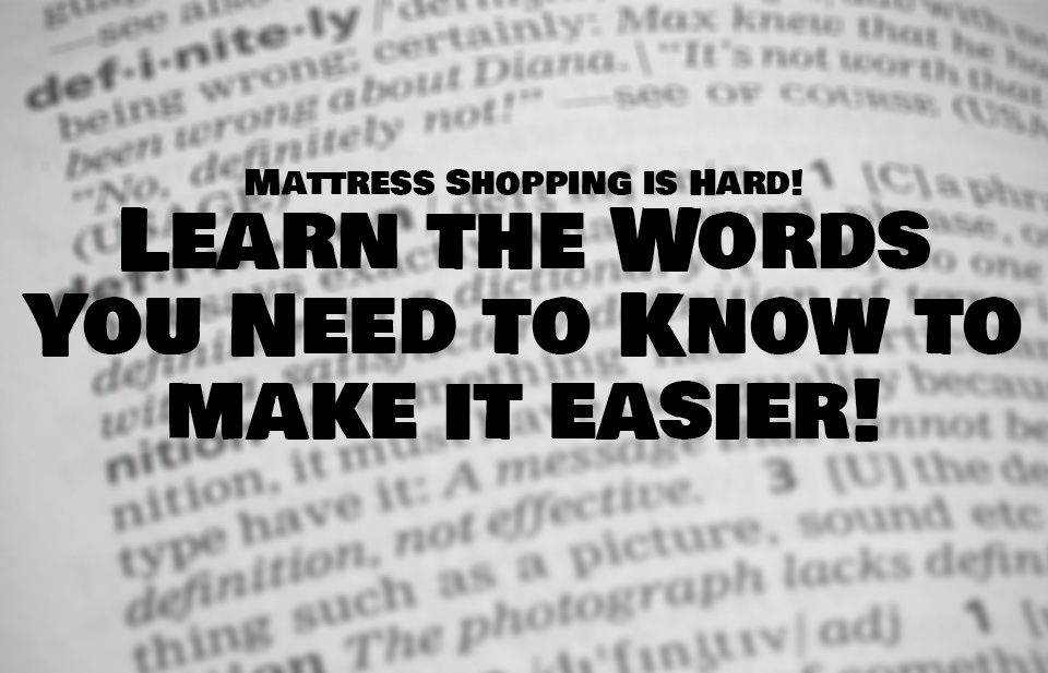 Mattress Words Lexicon - Restwell